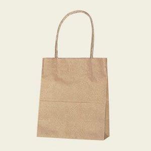 紙袋 25チャームバッグ (18-1未晒無地#3271110 HEIKO)50枚入り|iimono-ya