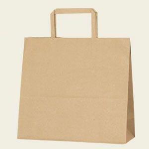 紙袋 H25チャームバッグ (26-1未晒無地#3267301 HEIKO)50枚入り|iimono-ya