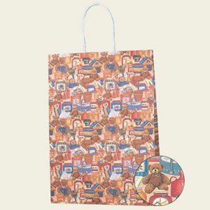 紙袋 Pスムース (2才ベアーズライフ#3154008 HEIKO)25枚入り|iimono-ya