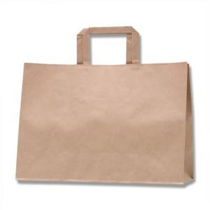 紙袋 Hフラットチャームバッグ 340−1 (未晒無地 #3277201 HEIKO) 50枚入り iimono-ya