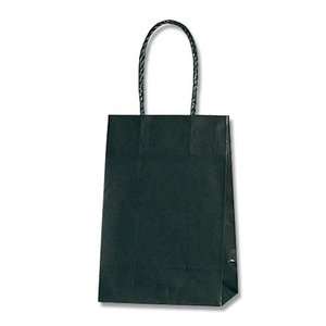 紙袋 スムースバッグ 16−2 (黒無地 #3137801 HEIKO) 25枚入り|iimono-ya