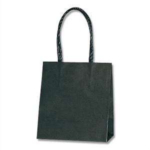 紙袋 スムースバッグ 15−08 (黒無地 #3138001 HEIKO) 25枚入り|iimono-ya