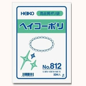 ポリ袋 HEIKO No.813 厚さ0.08mm サイズ260×380 [50枚入り]|iimono-ya