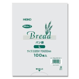 PP パン袋 1個用L 100枚入り HEIKO|iimono-ya