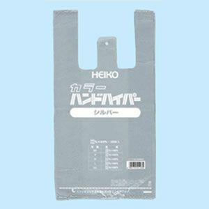 レジ袋 カラーハンドハイパー シルバー (L #6639800 HEIKO)100枚入り|iimono-ya
