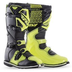送料無料 FLYRACING MAVERIK ブーツ Hi-Viz YELLOW 7インチ 約25.0cm|iimono-ya
