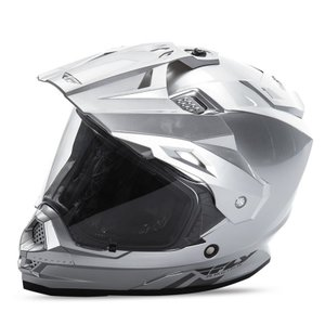 送料無料 FLY RACING TREKKER フライ トレッカー ヘルメット SILVER XL PSCマーク付き正規輸入品|iimono-ya