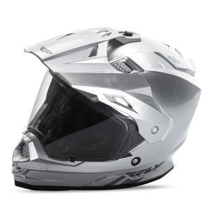 送料無料 FLY RACING TREKKER フライ トレッカー ヘルメット SILVER 2XL PSCマーク付き正規輸入品|iimono-ya