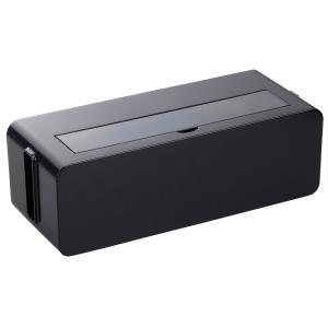 イノマタ化学 テーブルタップボックス ブラック Lサイズ  (代引き便不可)|iimono-zakka
