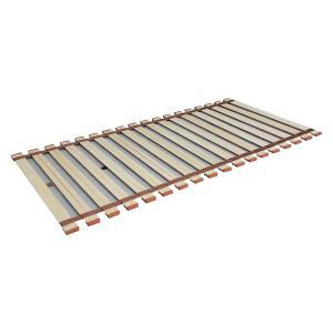 クルクル巻き取りとても簡単! 薄型軽量桐すのこベッド ロール式 セミシングル LY-80 コンパクト 快適 収納|iimono-zakka