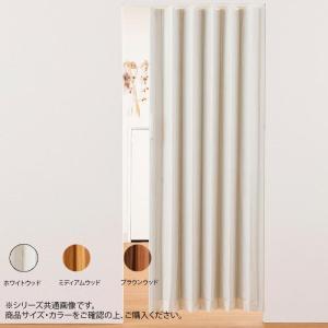 単式アコーデオンドア 木目 幅100×高さ174 カーテン 押入れ 仕切り|iimono-zakka