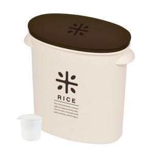 パール金属 日本製 米びつ 5kg ブラウン 計量カップ付 お米 袋のまま ストック RICE HB...