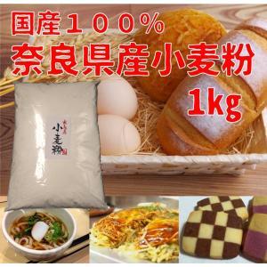 小麦粉 1kg 中力粉 国産 奈良産 菓子用