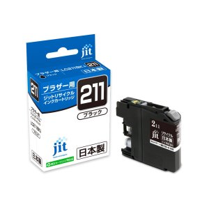 サンワサプライ リサイクルインクカートリッジ LC211BK対応 JIT-B211B|iimonotown