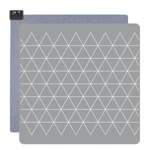 ホットカーペット(2畳相当 グレー/幾何柄) 暖房器具 広電 KODEN VWU2015-PHG|iimonotown