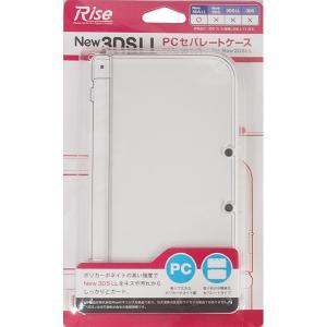 【送料無料】NINTENDO New 3DSLL用PCセパレートカバー クリア&クリアブラック 【あ...