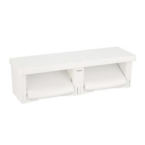 ◆在庫有り!台数限定!TOTO【YH650】 NW1ホワイト 棚付二連紙巻器 芯あり対応 樹脂製|iisakura39