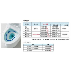##TOTO パブリックコンパクト便器・タンク式【CS597BS+SH597BAR】掃除口なし 手洗いあり(旧品番CS597B SH597BA) iisakura39