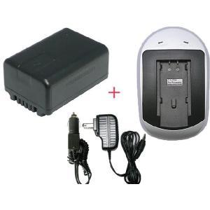 充電器セット パナソニック(Panasonic) VW-VBK180-K 互換バッテリー+充電器(AC)