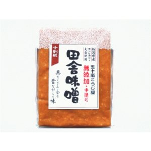 無添加手作り 田舎味噌(十割糀)1kgパック |ikarashikoujiya