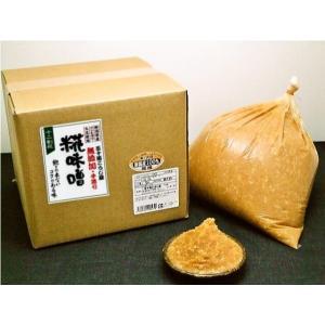 無添加手作り 糀味噌(十二割糀)15kg 箱入り|ikarashikoujiya