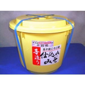 仕込み味噌 十割糀 15kg 樽入り 無添加 新潟産米・大豆100%|ikarashikoujiya