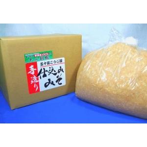 仕込み味噌 十二割糀 10kg 箱入り 無添加 新潟産米・大豆100%|ikarashikoujiya