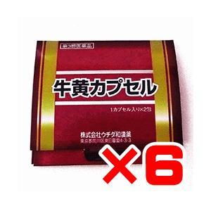 ウチダ和漢 牛黄カプセル 2カプセル×6個 【第3類医薬品】 ポイント15倍|ikawayakuhin
