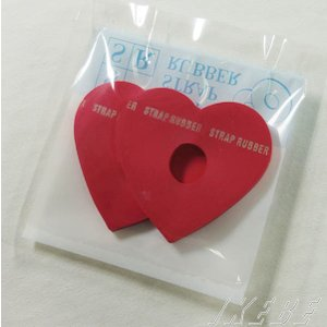 """HARRY'S STRAP RUBBER """"HEART"""" (2枚入り) [RED]"""