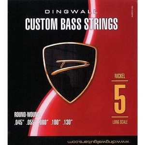 DINGWALL CUSTOM BASS STRINGS [NICKEL 5ST] SET ROUN...