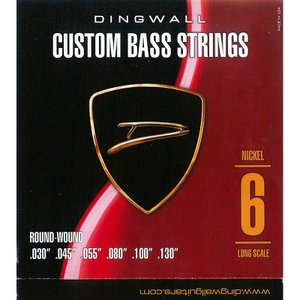 DINGWALL CUSTOM BASS STRINGS [NICKEL 6ST] SET ROUN...