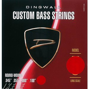 DINGWALL CUSTOM BASS STRINGS [NICKEL 4ST] SET ROUN...