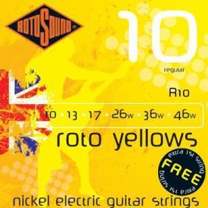 ROTO SOUND / R10 Roto Yellows - Regular ×6セット