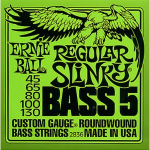 ERNIE BALL / #2836 5-STRING Regular SLiNKY (Round Wound Bass Strings) ベース弦|ikebe