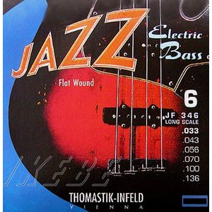 Thomastik-Infeld / Electric Bass Strings JF346 (Nickel Flat Wound Roundcore Bass Strings for Long Scale 34inch 6-strings)|ikebe