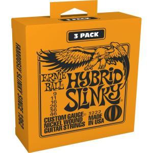ERNIE BALL アーニーボール / Nickel Wound Guitar Strings 3 Set Pack (#3222 HYBRID SLINKY)|ikebe