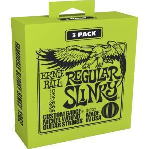 ERNIE BALL アーニーボール / Nickel Wound Guitar Strings 3 Set Pack (#3221 REGULAR SLINKY)|ikebe