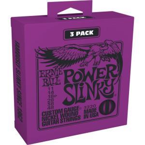 ERNIE BALL アーニーボール / Nickel Wound Guitar Strings 3 Set Pack (#3220 POWER SLINKY)|ikebe