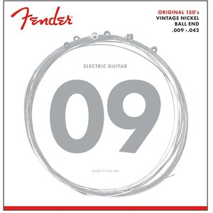Fender USA / 150s pure nickel ball end Electric Guitar Strings 150L (09-42) (#0730150403)|ikebe