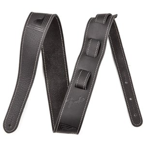 Fender USA フェンダー / MONOGRAM LEATHER STRAP (BLACK)(#0990681006)|ikebe