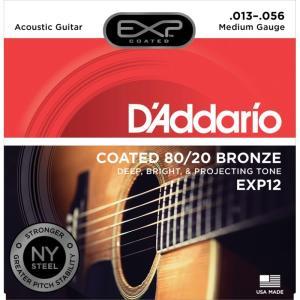 D'Addario ダダリオ / EXP with NY STEEL Coated 80/20 Bronze [EXP12 Medium] ikebe