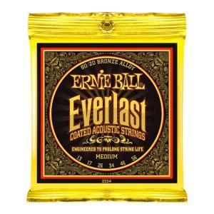 ERNIE BALL アーニーボール / Everlast Coated 80/20 Bronze Alloy Acoustic Strings (#2554 Everlast Coated MEDIUM) (13-56) アコースティックギター弦 ikebe