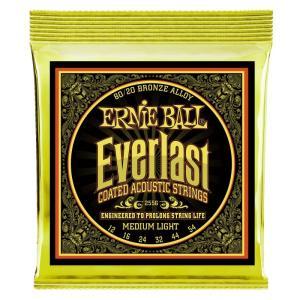 ERNIE BALL アーニーボール / Everlast Coated 80/20 Bronze Alloy Acoustic Strings (#2556 Everlast Coated MEDIUM LIGHT) (12-54) アコースティックギター弦 ikebe