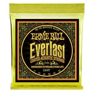 ERNIE BALL アーニーボール / Everlast Coated 80/20 Bronze Alloy Acoustic Strings (#2558 Everlast Coated LIGHT) (11-52) アコースティックギター弦 ikebe