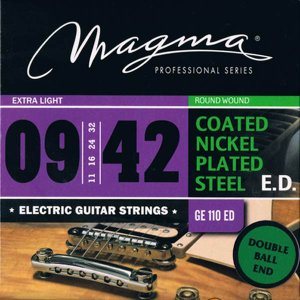 MAGMA STRINGS / DOUBLE BALL END - COATED Nickel Plated Steel GE110EDDB (Extra Light 09-42) エレキギター弦|ikebe