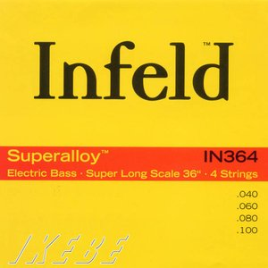 """Thomastik-Infeld / """"Infeld"""" Electric Bass Strings IN364 (Superalloy Round Wound Hexcore Bass Strings for Super Long Scale 36 inch 4-strings)