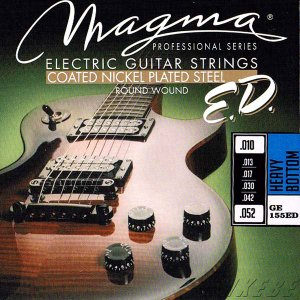 MAGMA STRINGS / EXTENDED LIFE COATED NICKEL PLATED STEEL GE155ED (Heavy Bottom 10-52) エレキギター弦|ikebe