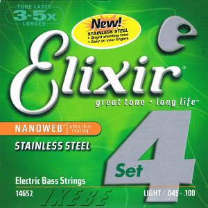 ELIXIR / Stainless Steel Bass Strings with ultra-thin NANOWEB Coating (Light/Long) #14652|ikebe
