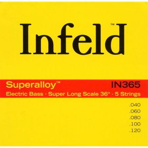 """Thomastik-Infeld / """"Infeld"""" Electric Bass Strings IN365 (Superalloy Round Wound Hexcore Bass Strings for Long Scale 36 inch 5-strings)