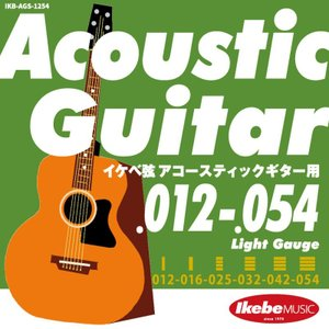 "Ikebe Original Acoustic Guitar Strings ""イケベ弦 アコースティックギター用 012-054"" (Light Gauge/IKB-AGS-1254) ikebe"